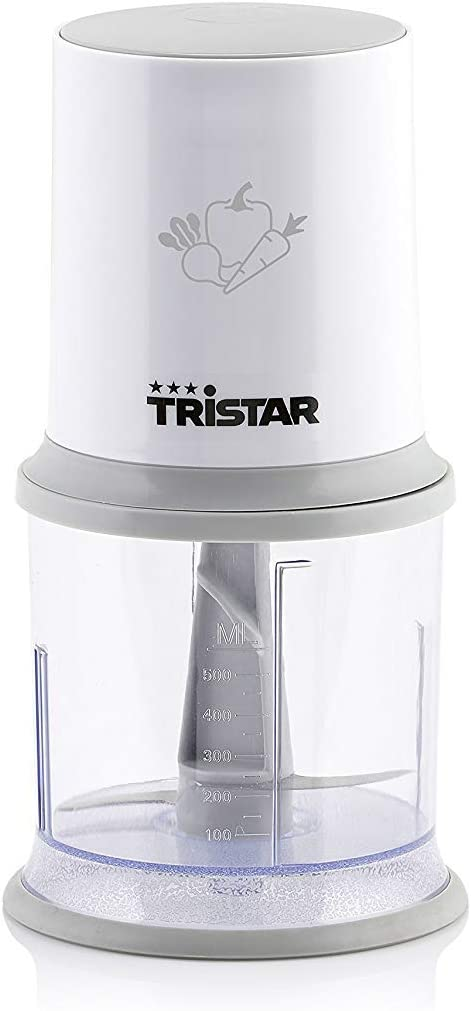 Tristar BL-4020 Picadora con un botón operacional, cuchillas de acero inoxidable, 200 W, De plástico, Blanco