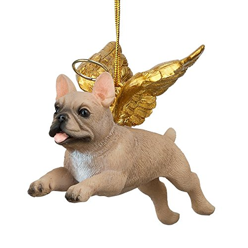 Christmas Tree Ornaments - Honor The Pooch French Bulldog Holiday Angel Dog Ornaments