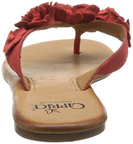 Caprice (CPRI5) 27101 - Chanclas mujer rojo - Rot (RED NUBUC/544)