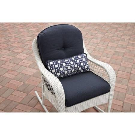 Azalea Ridge All-Weather Rocker, Uv-Protection, Perfect for The Front Porch, Patio or Sunroom, White (White)