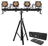 Chauvet DJ 4Bar Flex T USB D-Fi DMX LED Light Bar+Stand+Carry Case+Foot Switch