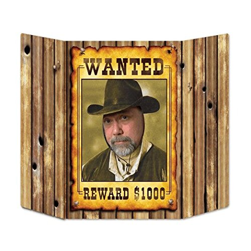 Beistle Wanted Poster Photo Property, 3-Feet 10-Inch by 25-Inch, Multicolor