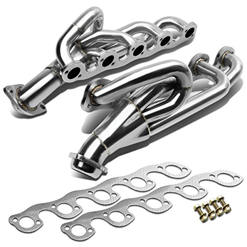 For 96-03 Dodge Ram 2500/3500 5-1 Design 2-PC Stainless Steel Exhaust Header - 8.0L V10 OHV