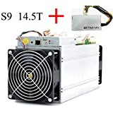 AntMiner Bitmain S9 14.5T ASIC Miner Include Bitmain APW3++ PSU Power Supply and Power Cord