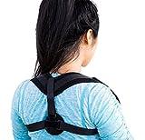 Corrector unisex de postura para espalda encorvada y hombros caidos. Proporciona alivio del dolor en la parte superior de la espalda, mejora la postura y ayuda a eliminar la postura jorobada relacionada con use de computadoras en la oficina, escuela o casa, Ideal para hombres, mujeres o adolescentes.