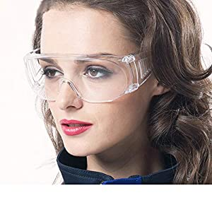 Goggles Protective Safety Glasses, Laboratory Dust-Proof, Breathable, Splash Protective Goggles for Adults