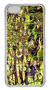 Customized iphone 5C PC Transparent Case - Water Flowers Personalized Cover