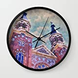 Society6 St. Marys Catholic Church Wall Clock Black Frame, Black Hands