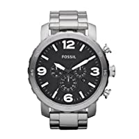 FOSSIL JR1353 Nate Chronograph Stainless Steel Watch from FOSSIL