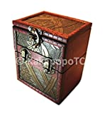 KakapopoTCG M01A Wood Single Deck and Counter Box Protector Sleeve Storage Trading Cards TCG Ultra Pro MTG Magic The Gathering Pokemon YGO Yugioh Vanguard Lord of The Rings EDH Commander Dice