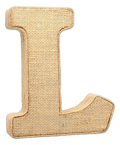 """The Country House Collection 7"""" Primitive Wall Decor Letters (Burlap, L)"""