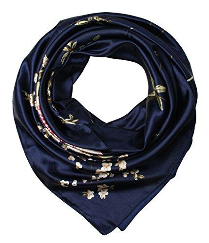 corciova-womens-satin-square-silk-feeling-hair-scarf-35-x-35-inches-flowers-navy