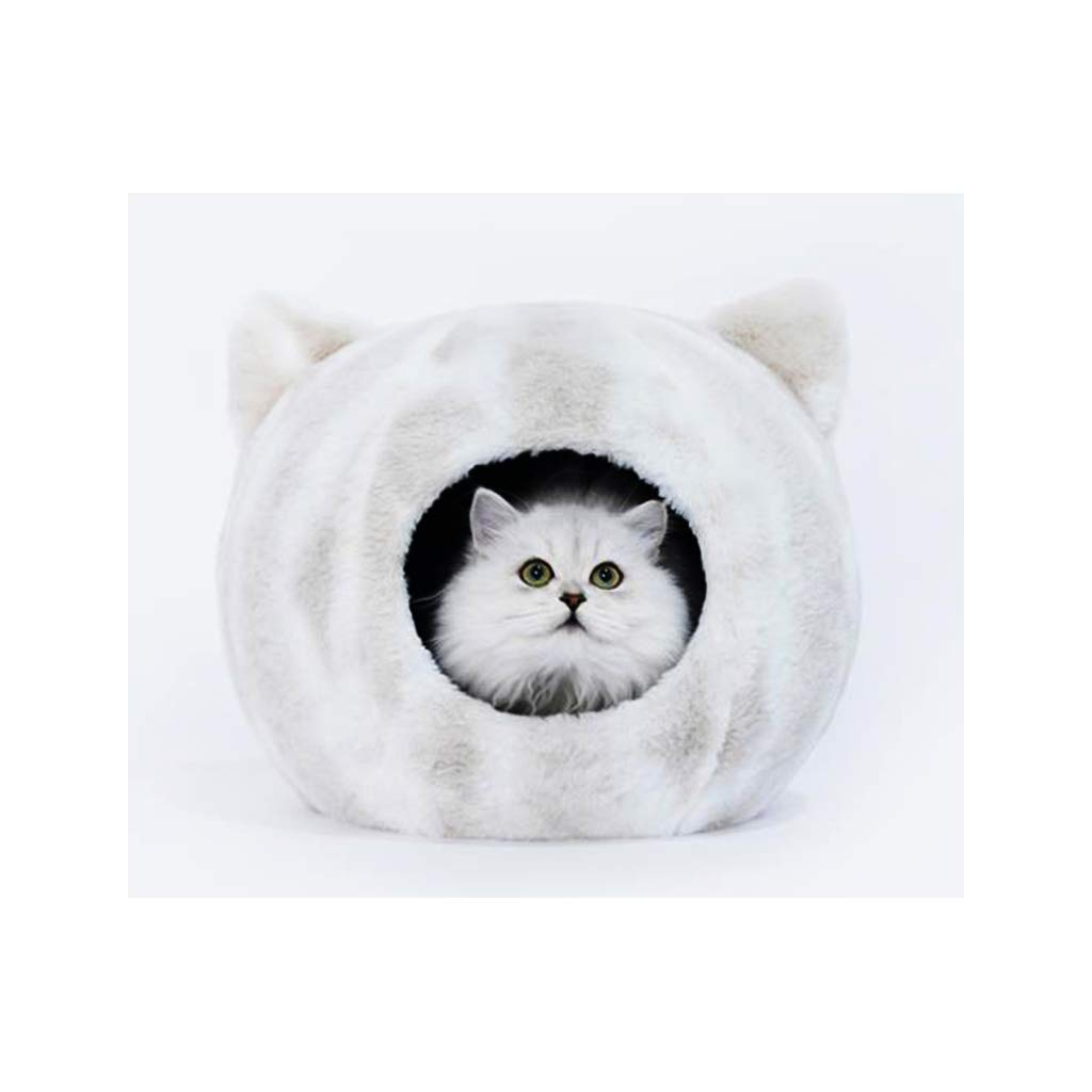 JXLBB White Cat Head Cat Litter Teddy Kennel Four Seasons Universal Small Dog Dog Bed Pet Nest Supplies Fully Enclosed Cat Litter
