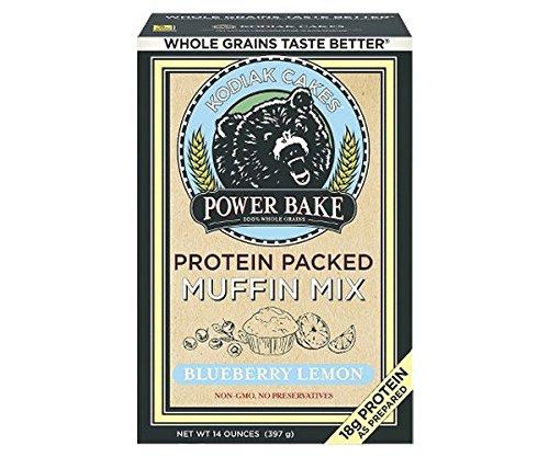 Bakers Premium White Chocolate (Kodiak Cakes Power Bake, Non GMO, Protein Packed Muffin Mix, Blueberry Lemon, 14 Ounce - No Preservatives)