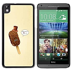LECELL -- Funda protectora / Cubierta / Piel For HTC DESIRE 816 -- Funny Gentleman Ice Cream --