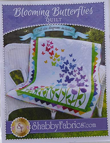 (Pattern~Blooming Butterflies,Quilt Pattern by Shabby Fabrics~ 40 1/2