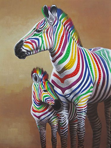 Colorful Zebra Print Nail Art Tutorial: Zebra Art: Amazon.com