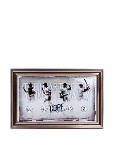 MLB New York Yankees Core Four Heart of the Yankees Dynasty Photo Framed Collage