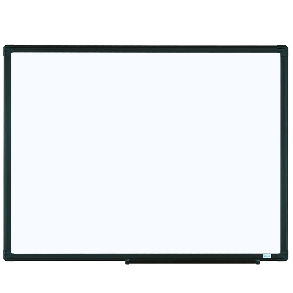 Lockways Magnetic Whiteboard White Board - Dry Erase Board 40 x 30, 1 Dry Erase Markers, 1 Magnets, Black Aluminium Frame for Home, Office, School