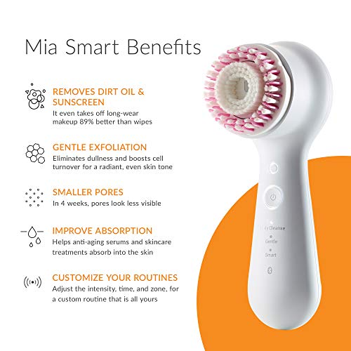 Clarisonic Mia Smart | Derm Recommended Anti-aging, Facial Cleansing and Exfoliating Device, for Clogged Pores, Puffy Eyes| Suitable for Sensitive Skin