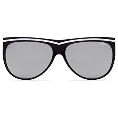 Amazon.com: Quay Hollywood Nights Sunglasses | Striped Cat Eye ...