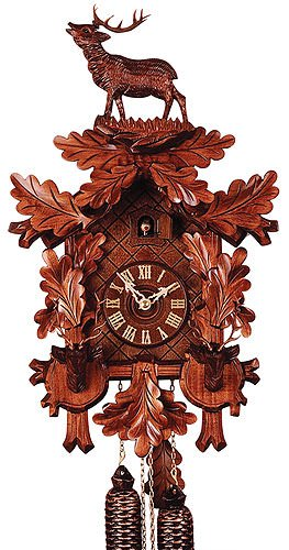 German Cuckoo Clock 8-day-movement Carved-Style 21.70 inch - Authentic black forest cuckoo clock by Rombach & ()