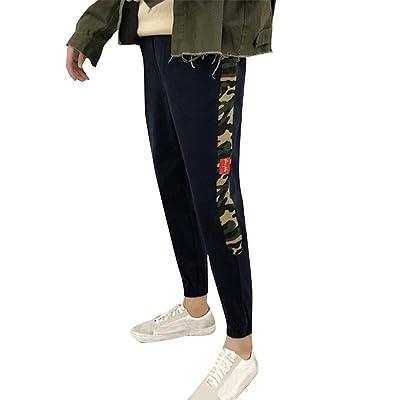 UUYUK Men Casual Sport Strings Jogging Printed Pants Trousers