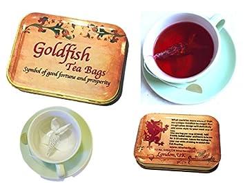 Amazoncom Tea Gift Box 4 Goldfish Tea Bag Hibiscus Rose