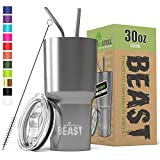 BEAST 30oz Stainless Steel Tumbler Vacuum Insulated Rambler Coffee Cup...