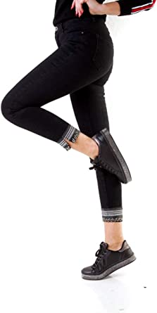 OSAB-Fashion 10164 damskie dżinsy rurowe spodnie stretch-denim slimfit długość do kostek: Odzież