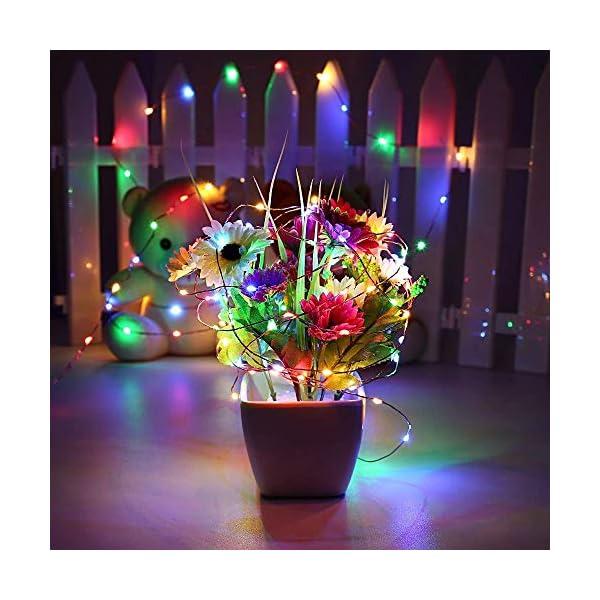 Qedertek Luci Natale Esterno Solare, Luci Natalizie 24M 240 LED, Lampadina Natale con Luci Colorate, Stringa Luci Solare Impermeabile, Luci Addobbi Natalizi per Albero di Natale (colore) 3 spesavip