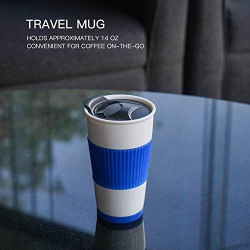UDMug loved ones car Commuter around a cup of coffee Ceramic Cup along with Spill Proof Slider eye lid Silicone Sleeve created In Coaster 14 floz Coral a cup of coffee Cups Mugs