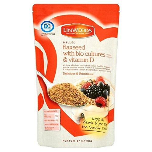 Linwoods Linaza Molida, Bio Culturas Y La Vitamina D 360G (Paquete de 2)