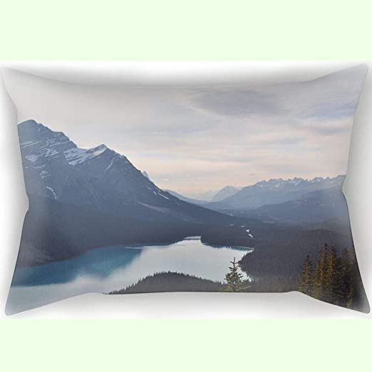 SWEUoYKo 40X60 CM Pillow Case MOUNTAIN LAKE FOREST DREAM ...