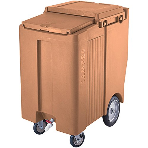 (Cambro ICS200TB-157 Sliding Lid Polyethylene Tall Ice Caddy, 39-1/2-Inch, Coffee)
