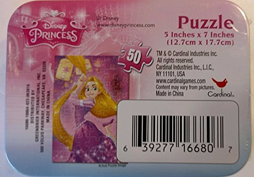 Disney Princess Tangled Rapunzel Mini Jigsaw Puzzle in Travel Tin Box 48 Pieces