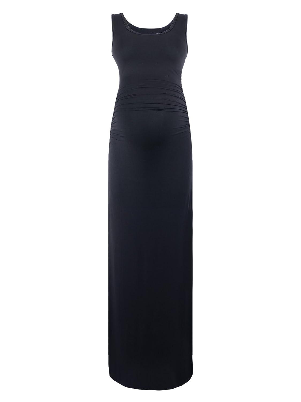 09c24df36739 Black Cherry Women's Sleeveless Modal Maternity Maxi Dress Comfortable Tank  Dress at Amazon Women's Clothing store: