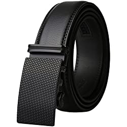 Dante Men's Real Leather Ratchet Dress Belt with Automatic Buckle-Elegant Gift Box(55-0030)