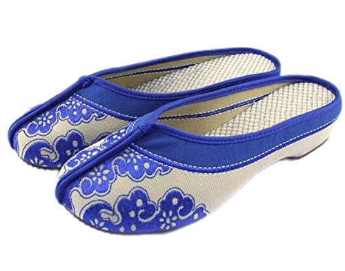 AvaCostume Womens White Porcelain Slippers