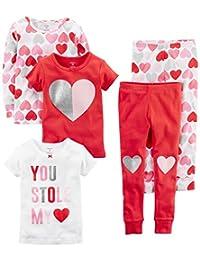 Carter's Baby-Girls 5-Piece Cotton Snug-fit Pajamas