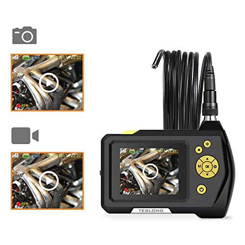 """Teslong Household Endoscope, 16.5ft Semi-Rigid Waterproof Borescope Inspection Camera with 2.7"""" LCD Screen, 6 LED Lights, 2600mAh Lithium-Ion Battery, Hard Case by Teslong (Image #5)"""