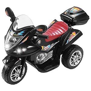 Murtisol Kids Ride on Motorcycle 6V Electric Motorcycle 2 Wheels Black