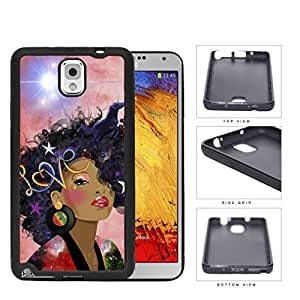 Retro Love Afro beauty Rubber Silicone TPU Cell Phone Case Samsung Galaxy Note 3 III N9000 N9002 N9005