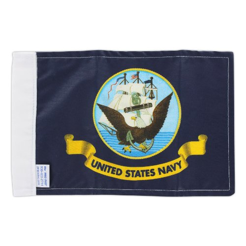 Pro Pad Navy Motorcycle Flag, 6 by 9-Inch