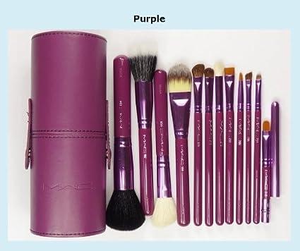 Juego de 12 brochas profesionales de maquillaje de MAKEUP Mac BRUSH: Amazon.es: Belleza