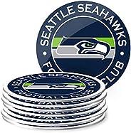 NFL Eight Pack Stripe Coasters (Seattle Seahawks)