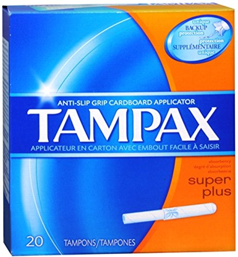 Flushable Applicator - Tampax Cardboard Applicator, Super Plus Absorbency Tampons, 20 Count