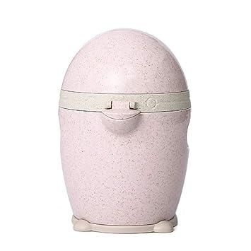 Exprimidor de cocina pequeño de dibujos animados y pingüino, portátil, para el hogar, con colador y recipiente rosa: Amazon.es: Hogar