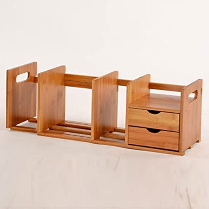 LPYMX Wall Decoration Bamboo Desktop Storage Bookshelf Mobile Table Top Stretching Students Creative Simple Small