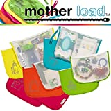 MOTHER LOAD Diaper Bag Organizers 5-pc Collection of Bags for Diapers, Clothes, Snacks, Toys, Machine Washable Multi-Bag Organizer & Wrist-let. A Mommy Must Have for all Babies Needs